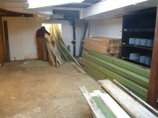 wood in basement