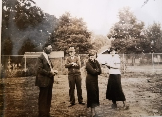 Edith with clients Walla Walla