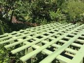 The Arbor Bench Lattice top rebuilt.