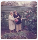 One of the few historic images we have of the Reserve area Edith pointing out Camellia's in the spring of 1977