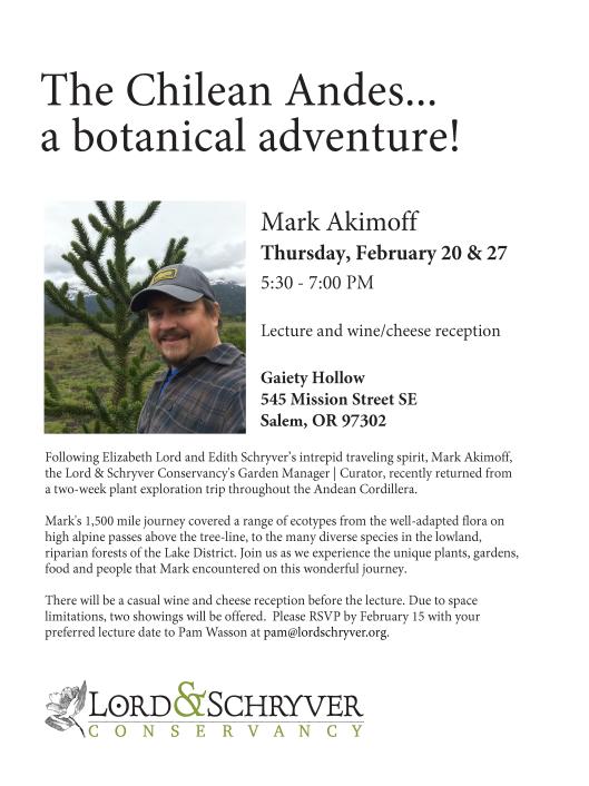 Mark Akimoff Chile lecture flier