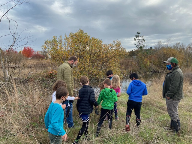 We got a tour of the Fairvew Wetlands with a Migratory Bird biologist who taught the kids about beaver dams and habitat that waterfowl need to survive in urban environments.