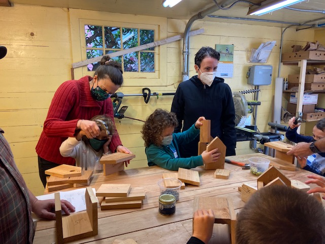 The woodshop at Gaiety Hollow produced some wonderful Wren Houses, thanks to Chet Zenone and the Audobon society